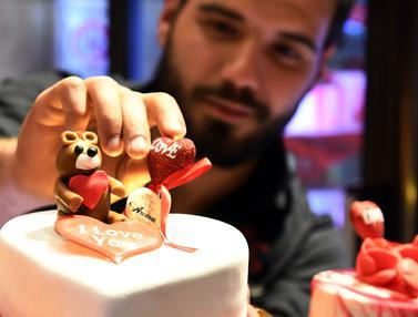 Kue-Kue Cantik Sambut Hari Valentine di Suriah