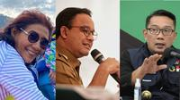 Survei KedaiKOPI menyebut nama Susi, Anies, Ridwan Kamil memiliki potensi untuk bertarung dalam politik Indonesia ke depan. (Liputan6.com/Istimewa)