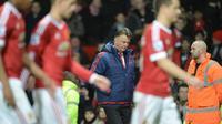 Manajer Manchester United asal Belanda, Louis van Gaal. (AFP/Oli Scarff)