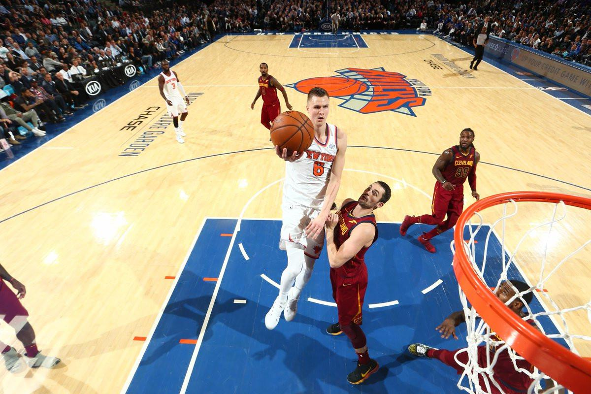 Cleveland Cavaliers vs New York Knicks (Twitter NBA)