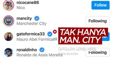 Berita video TikTok Bola.com kali ini mengecek akun klub Premier League yang di-follow Lionel Messi di Instagram, yang ternyata tak hanya Manchester City.