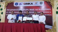 Mou INKA dan Politeknik Negeri Madiun (Foto: Dok Kementerian BUMN)