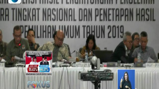 Hingga hari ini masih tersisa empat provinsi yang belum direkapitulasi, yakni Riau, Sumatera Utara, Maluku, dan Papua serta dari luar negeri yakni Kuala Lumpur.