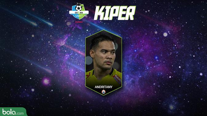 Best XI Liga 1 Kiper 2018 (Bola.com/Adreanus Titus)