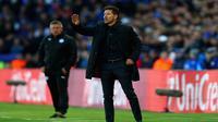 Diego Simeone bangga dengan performa Atletico Madrid yang mampu menahan tekanan dari Leicester City. (doc. UEFA)