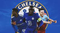 Chelsea - Wilfred Ndidi, NGolo Kante, Declan Rice (Bola.com/Adreanus Titus)