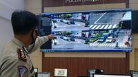 Ruang Kontrol Tilang Elektronik Dirlantas Polda Banten. (Selasa, 02/03/2021). (DOkumentasi dirlantas Polda Banten).