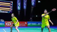 Penampilan ganda campuran Indonesia, Praveen Jordan/Melati Daeva Oktavianti, di All England 2020. (PBSI)