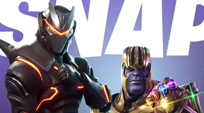 Thanos muncul di gim Fortnite Battle Royale. (Doc: CBR)