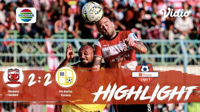 Pertandingan #ShopeeLiga1, antara #MaduraUnited vs #BaritoPutera yang berlangsung di Stadion Gelora Bangkalan, Madura pada hari Sa...