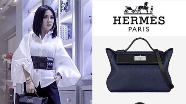 Salah satu tas mewah koleksi Syahrini. (dok.Instagram   fashionsyahrini https   www.instagram.com p BtKmononq1l Henry 7dc56a7dbc