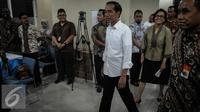 Presiden Jokowi saat sidak di Kantor Pusat Dirjen Pajak, Jumat (30/9). Jokowi mengaku mendapat banyak permintaan agar Tax Amnesty diperpanjang dan berjanji akan memberikan kemudahan administrasi hingga Desember 2016. (Liputan6.com/Faizal Fanani)