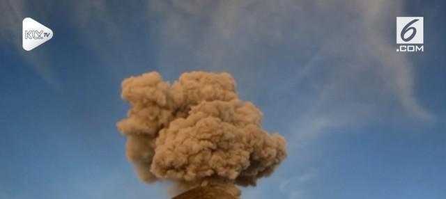 Erupsi gunung berapi paling berbahaya di Meksiko, Popocatepetl kembali terjadi.