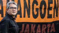 Bung Ferry merupakan salah satu pendiri The Jakmania yang juga mantan ketua umum organisasi suporter pendukung Persija Jakarta itu. (Bola.com/Vitalis Yogi Trisna)