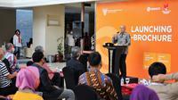 Menteri Koperasi dan UKM Teten Masduki dalam peresmian E-Brochure di Smesco Indonesia, Jakarta (19/8/2020).