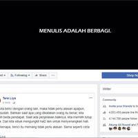 Ini tanggapan netizen tentang postingan Tere Liye yang melarang tulisannya untuk dijadikan caption foto. (Foto: Screenshot Facebook Tere Liye)