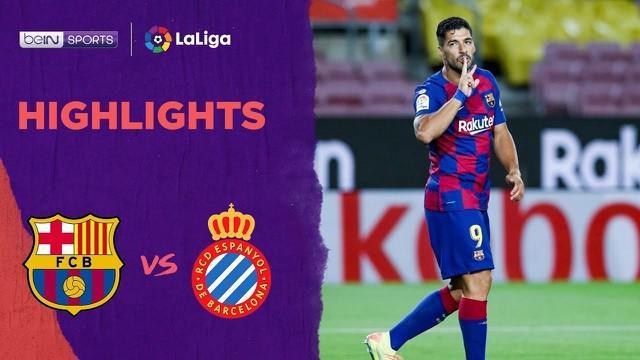VIDEO: Highlights La Liga, Luis Suarez Antarkan Barcelona Kalahkan Espanyol