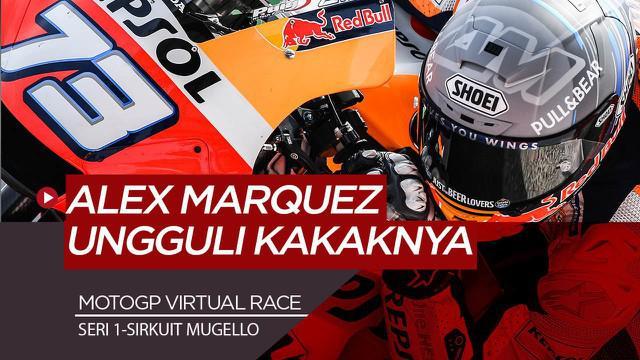 Berita Video Marc Marquez Dikalahkan Sang Adik di MotoGP Virtual Race