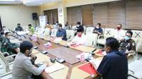 Pertemuan Forum Pimpinan Umat Islam Sulut dan Gubernur Olly Dondokambey terkait sejumlah agenda perayaan Idul Fitri.