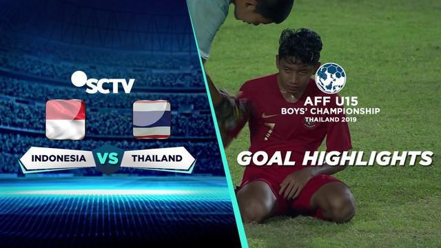 Berita video gol-gol Thailand saat menghadapi Timnas Indonesia pada semifinal Piala AFF U-15 2019, Rabu (7/8/2019).