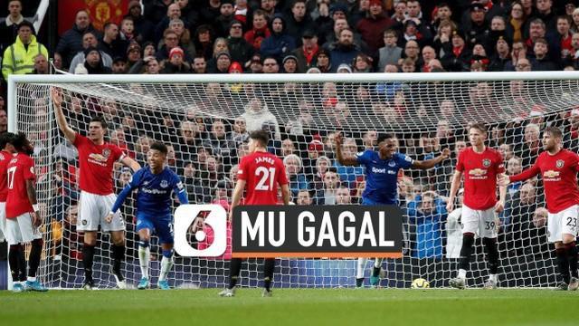 Lanjutan Liga Inggris pertemukan Manchester United dan Everton di Old Trafford hari Minggu (15/12). Manchester United gagal raih kemenangan, ditahan imbang 1-1.