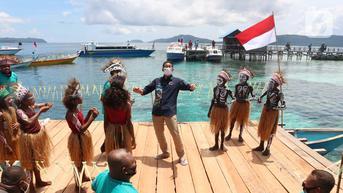 FOTO: Sambangi Raja Ampat, Sandiaga Uno Kampanyekan Rojali bagi Wisatawan