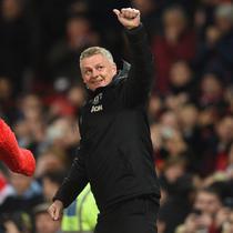 Ole Gunnar Solskjaer mengantarkan Manchester United meraih kemenangan atas Tottenham Hotspur. (AFP/Oli Scarff)