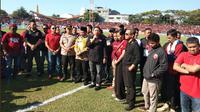 CEO PSM, Munafri Arifuddin, di Stadion AMM setelah penundaan laga leg kedua final Piala Indonesia 2018. (Bola.com/Abdi Satria)