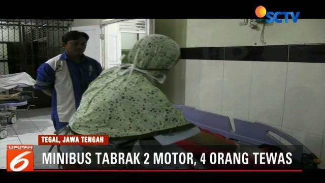 Seluruh korban merupakan satu keluarga asal Desa Cibunar, Balpulang, Kabupaten Tegal, yang baru menghadiri undangan pengantin.