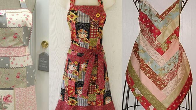 Cantik di Dapur Dengan Apron Kain Perca - Beauty Fimela.com