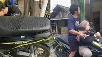 Bentuk Jok Motor Berduri. (Sumber: Twitter/ @Dilmil18 dan Twitter/ @kukutru)