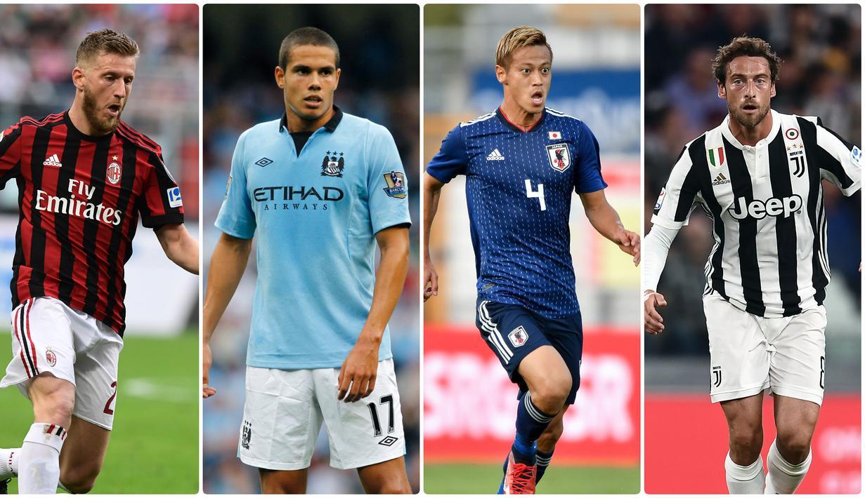Musim 2019-20 mulai bergulir, namun tidak semua pemain mendapatkan klub. Beberapa pemain bintang masih ada yang belum bergabung dengan klub mana pun pada musim ini. Berikut 7 pemain bintang yang belum memiliki klub. (Kolase foto AFP)