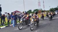 Pelepasan personel Operasi Lilin Lancang Kuning untuk mengamankan Natal dan perayaan tahun baru. (Liputan6.com/M Syukur)