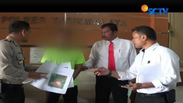 Tersangka sengaja menyebar kabar bohong ada orang gila yang membawa senjata tajam ditangkap di Pondok Pesantren Cipasung.