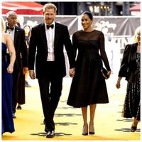 Meghan Markle dan Pangeran Harry di premiere film The Lion King (Instagram @sussexroyal)