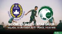 CFA - Indonesia U-22 Vs Arab Saudi (Bola.com/Adreanus Titus)
