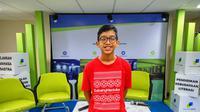 Muhammad Naufal Raffi menceritakan dirinya tinggal di rumah keluarga yang beda agama. (Liputan6.com/Fitri Haryanti Harsono)