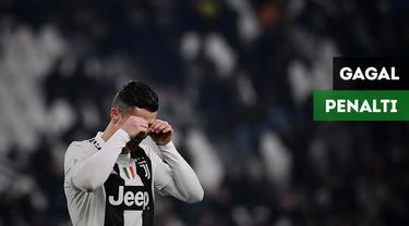 Berita video kegagalan Cristiano Ronaldo yang gagal mengeksekusi penalti saat Juventus menang atas Chievo Verona 3-0.