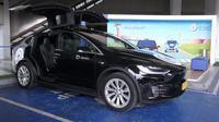 Taksi Tesla di Bandara Soekarno-Hatta. (Dok Angkasa Pura II)