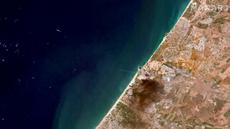 Gambar satelit yang dirilis oleh Maxar Technologies ini menunjukkan gambaran umum tentang Israel Selatan dan Kota Gaza pada 12 Mei 2021. Israel menggempur Gaza dan mengerahkan pasukan ke perbatasan Palestina menyusul konflik yang terus berlanjut.(Handout/Satellite image ©2021 Maxar Technologies/AFP)