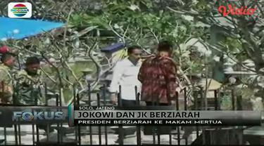 Jelang Ramadan, Presiden Jokowi dan Wapres Jusuf Kalla berkunjung ke kampung halaman untuk ziarah ke makam orangtua.