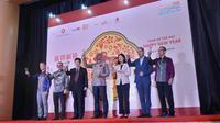 Perwakilan pemerintah Hong Kong di Indonesia bersulang merayakan Hari Raya Imlek. Dok: Tommy Kurnia/Liputan6.com