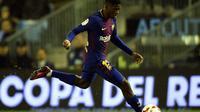 Pelatih Barcelona, Ernesto Valverde, mengatakan Ousmane Dembele sudah kembali berlatih dan siap bermain mulai pekan depan. (AFP/Miguel Riopa)