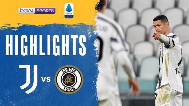 Berita video highlights Liga Italia, Juventus menang dengan skor telak 3-0 atas Spezia, Rabu (3/3/21)