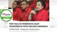Cek Fakta: Megawati Soekarnoputri dan PDI usulkan pesantren dihapus?