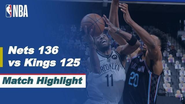 Berita video highlights NBA 2020/2021 antara Sacramento Kings melawan Brooklyn Nets yang berakhir dengan skor 125-136, di mana Kyrie Irving menorehkan 40 poin dalam pertandingan tersebut, Selasa (16/2/2021) pagi hari WIB.