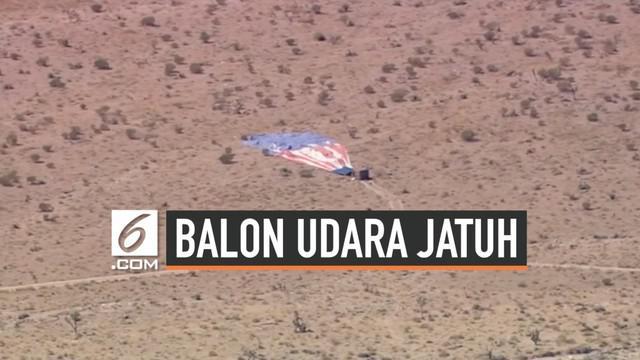 Sebuah balon udara jatuh di gurun yang berada di sebelah barat daya Las Vegas, ketika membawa beberapa orang. Setidaknya, 9 orang terluka karena insiden ini.