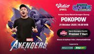 Nonton Game Bareng Pokopow: Marvel's Avengers, Rabu 21 Oktober 2020 di Vidio, Bola.com, dan Bola.net