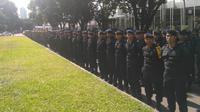 Polda Metro Jaya menggelar apel debat capres. (Merdeka.com/ Ronald)