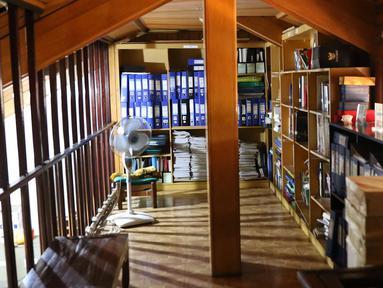 Salah satu ruangan di kantor Lembaga Bantuan Hukum (LBH) Pers di kawasan Kalibata, Jakarta Selatan, Jumat (27/7). LBH Pers adalah lembaga nirlaba yang terus membantu kasus-kasus yang menjerat jurnalis. (Liputan6.com/Immanuel Antonius)